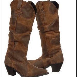 Dingo Muse Leather Western Slouch Boot Size  8